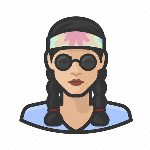 Asian, avatar, braids, female, hippie, user, woman icon - Download on Iconfinder