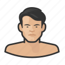 asian, avatar, male, man, millennial, nude, user icon
