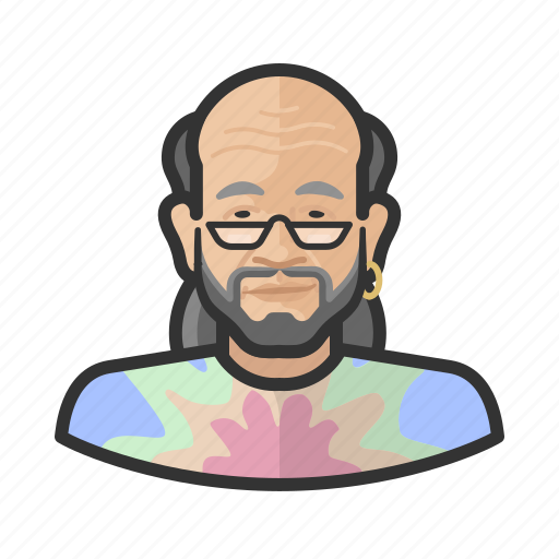 Asian, avatar, hippies, male, man, user icon - Download on Iconfinder