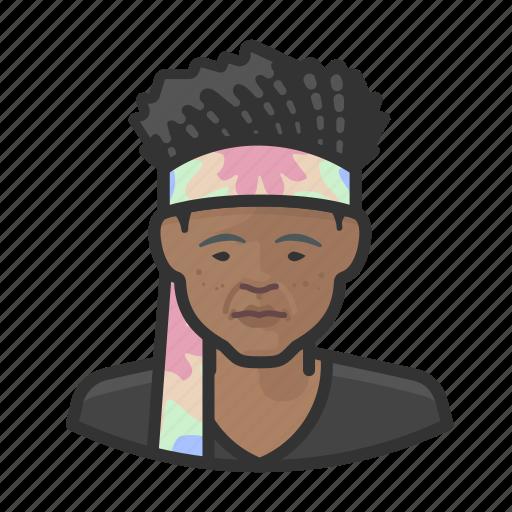 avatar, female, hippies, user, woman icon