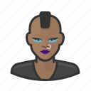 avatar, female, mohawk, punk, use, woman