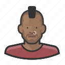avatar, male, mohawk, punk, user icon