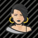 asian, avatar, goth, millennial, punk, user, woman icon
