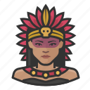 avatar, aztec, indian, mexico, native american, queen icon