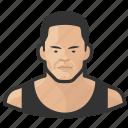 asian, avatar, bodybuilder, man icon