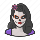 avatar, day of the dead, dead, mexican, mexico, woman icon