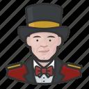 avatar, circus, male, man, ringmaster, tophat icon