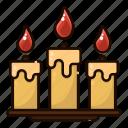 candles, decoration, deepavali, diwali, festival, india, light icon