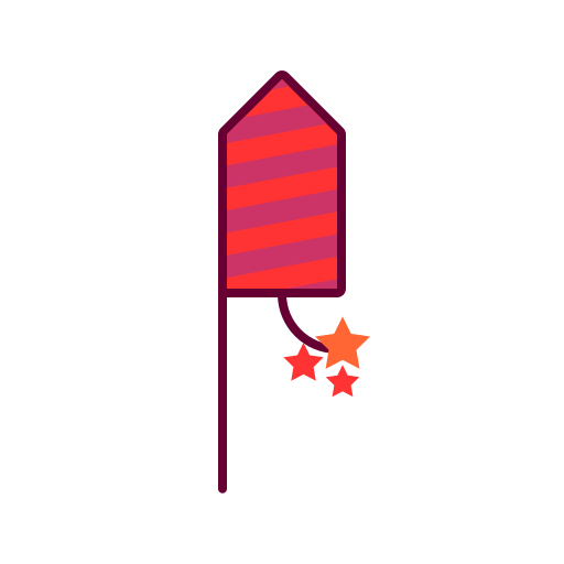 crackers, diwali, festival, fire crackers, party crackers, rocket icon