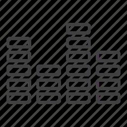 audio, eq, equalizer, music, sound, volume icon