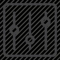 audio, eq, equalizer, mixer, music, volume icon