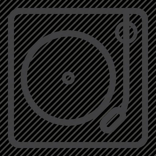 disc jockey, dj, music, turntable icon