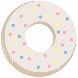 cake, candy, dessert, donut, doughnut, food, sweet icon