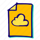 cloud, clouds, cloudy, data, network, storage, weather icon