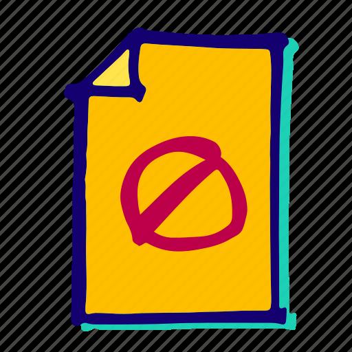 Denied, alert, cancel, danger, delete, error, stop icon - Download on Iconfinder