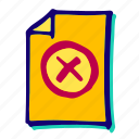 ban, delete, deny, forbidden, warning icon