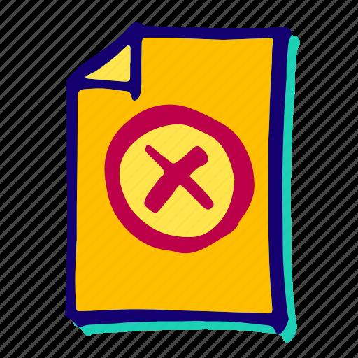 ban, delete, deny, forbidden, warning icon