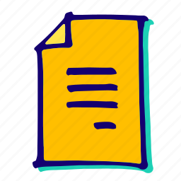 doc, document, documents, page, sheet, word icon