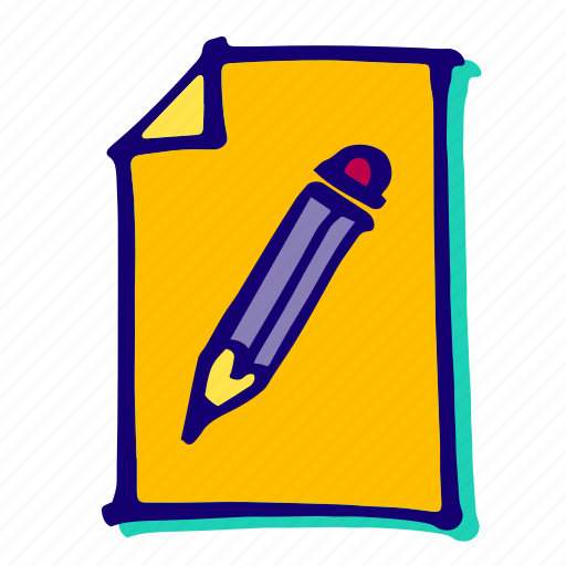 edit, file, paper, pencil, text, type, write icon