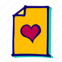 bookmark, favorite, favorites, favourite, heart, like, rating icon