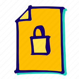 lock, locked, padlock, password, protection, safe, safety icon