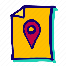 direction, gps, location, marker, pin, place, pointer icon