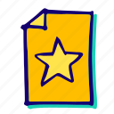 achievement, bookmark, favourite, like, rating, star, winner icon