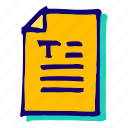 doc, document, testo, text, textdoc icon