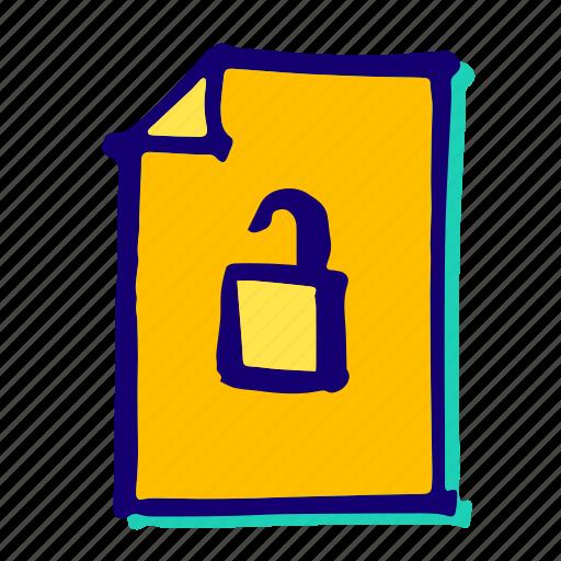 lock, padlock, password, protect, secure, security, unlock icon