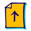 data, document, files, upload, uploading icon