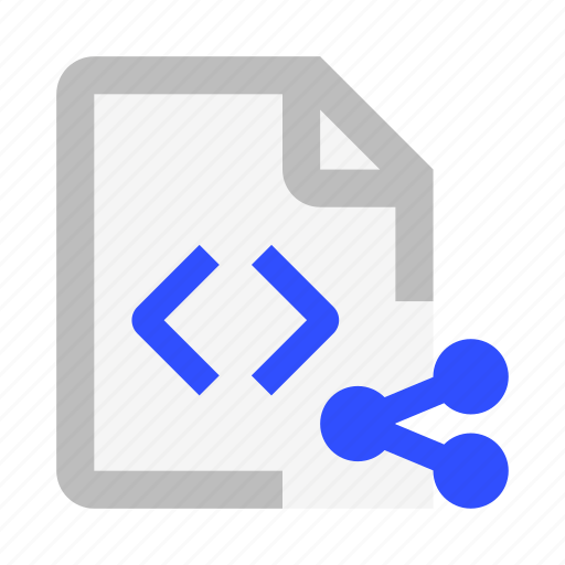 Code, document, extension, file, format, share icon - Download on Iconfinder