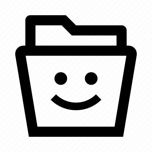 data, file, files, folder, smile icon