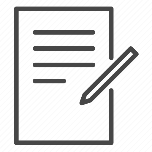 document, edit, file, paper, work, write icon
