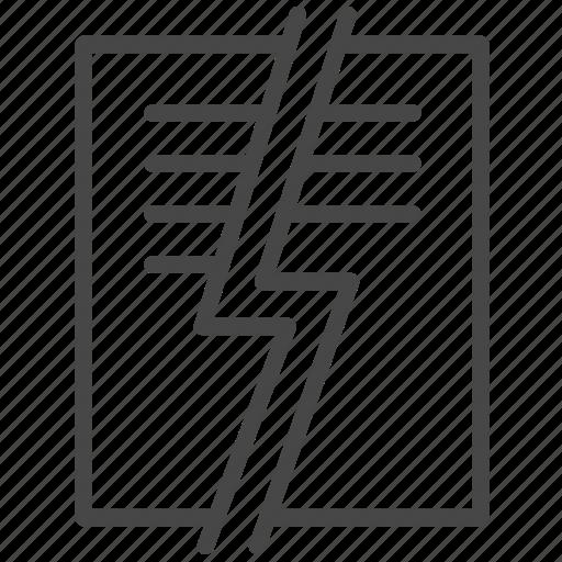 abrogate, broken, document, file, prohibit, revoke, termination icon