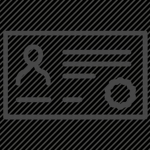 authorize, document, grant, identity, visa, work permit icon