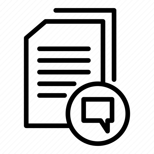 data document, document, document chat, document file, document letter, documentation, paper sheet icon