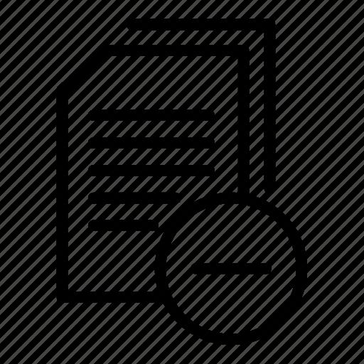 data document, document, document file, documentation, paper sheet, remove data, remove document icon