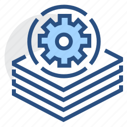 batch, file, files, gear, multiple, processing icon