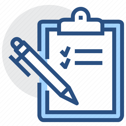 check, clipboard, list, mark, pen, pencil, plan icon