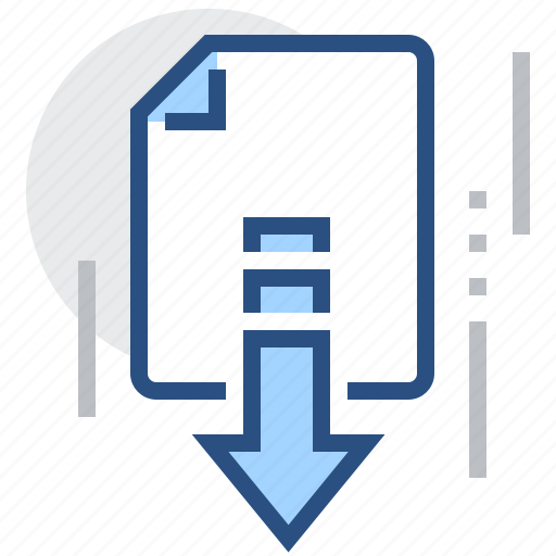Arrow, document, download, file, down, page icon - Download on Iconfinder