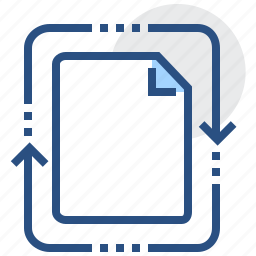 abstract, arrow, document, file, processing icon
