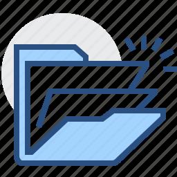 archive, documents, files, folder, open, storage icon