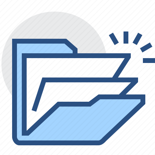 Files, folder, open, archive, documents, storage icon - Download on Iconfinder