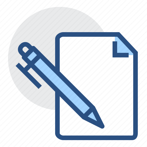 document, new, page, paper, pen, sheet icon