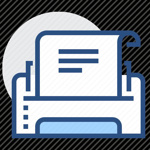 Document, machine, print, printer, page icon - Download on Iconfinder