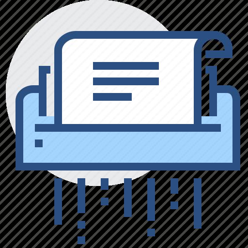 delete, destroy, file, machine, paper, shredder icon