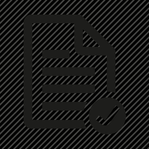 check, document, list, mar icon