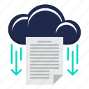 cloud computing, data, document, file, storage icon