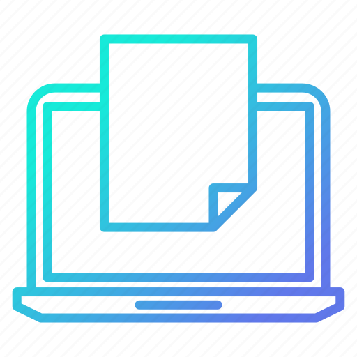 data, device, document, file, new, online icon