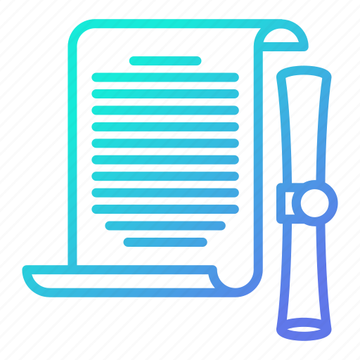 data, document, file, office, scroll icon